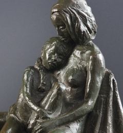 """Mother and Child IV 13"""" x 7"""" x 10"""""""